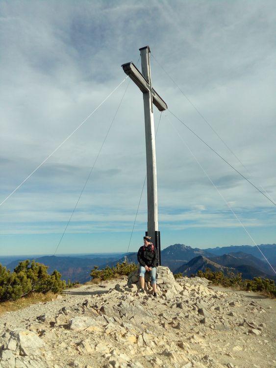 Auf dem Gipfel des Herzogstand am Walchensee