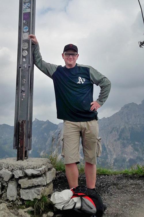 Christoph auf dem Gipfel der Krinnenspitze