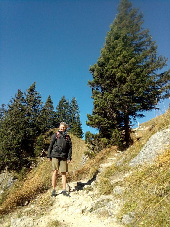 Bei Windstärke 7 sind wir auf dem Weg zur Ahornspitze