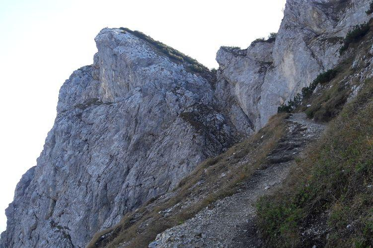 Aufstieg zur Gaichtspitze am Hahnenkamm, Reutte, Tirol