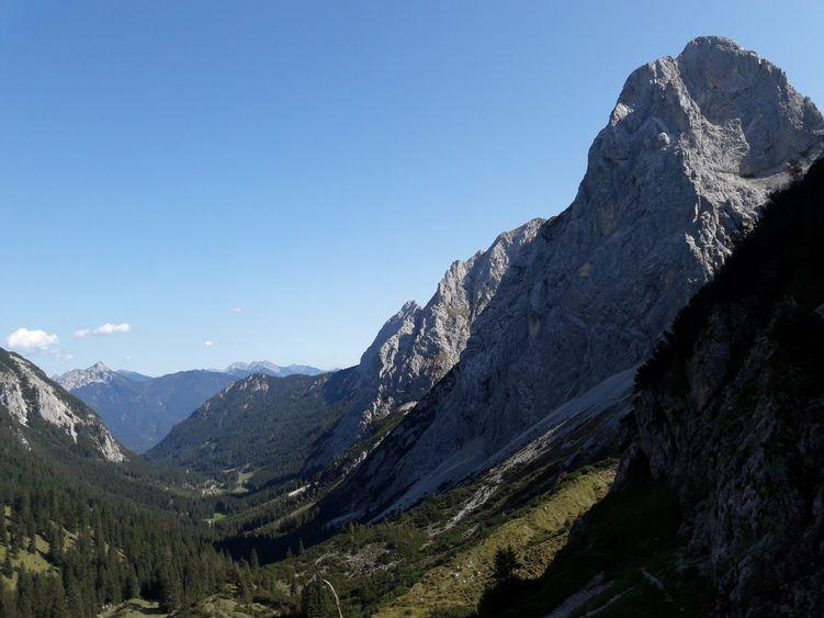 Blick vom Füssener Jöchle ins Musauer Tal