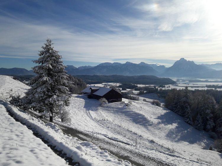 Der erste richtige Wintertag auf der Alpe Beichelstein