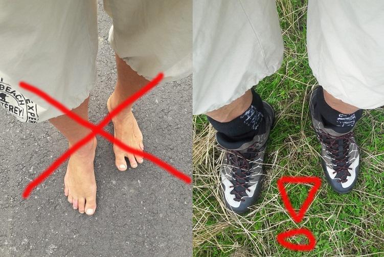 Schuhe statt barfuß