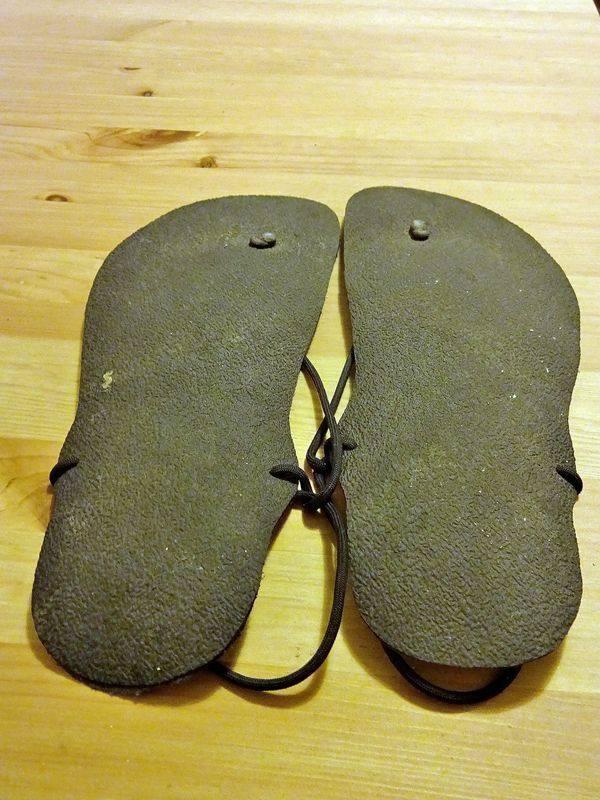 Geniale Sandale von unten