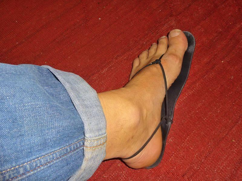 Geniale Sandale am Fuß