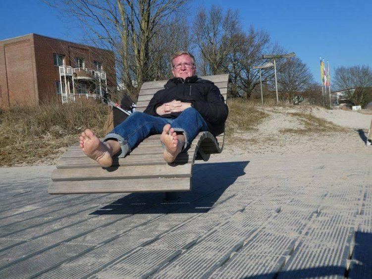 Wolfgang im Februar in Eckernförde an der Ostseeküste