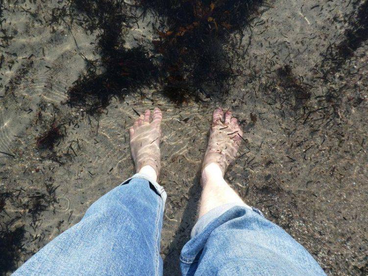 Am Strand von Eckernförde im Februar