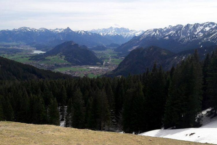 Tolle Aussicht auf Alpenvorland und Berge