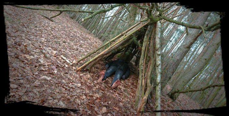 Barfuß im Wald biwakieren