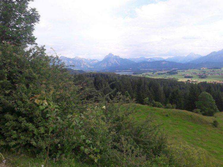 Ausblicke auf die Allgäuer Parklandschaft sowie die Tannheimer und Lechtaler Alpen