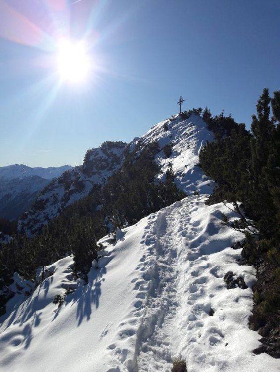 Schneespur zum Gipfel