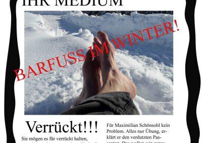 Titelbild - Barfuss im Winter als Medienthema