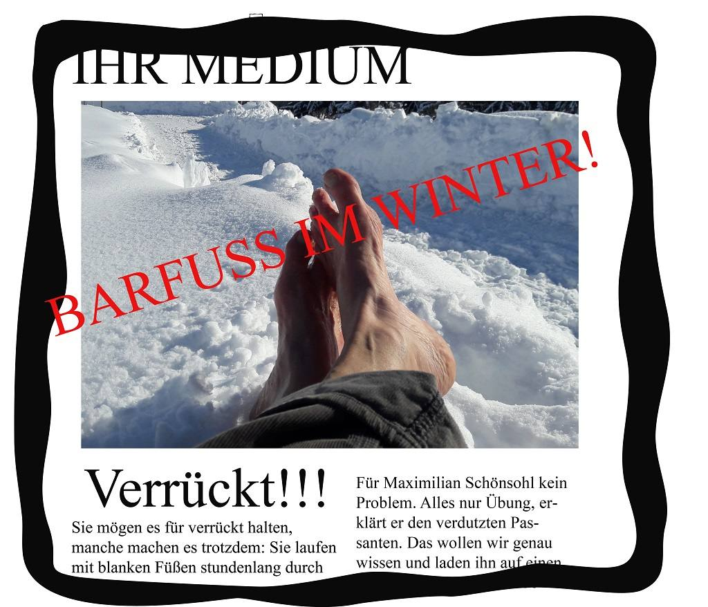 Titelbild - Barfuss im Winter als Medienthema
