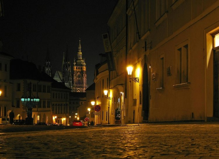 Street in the castle district