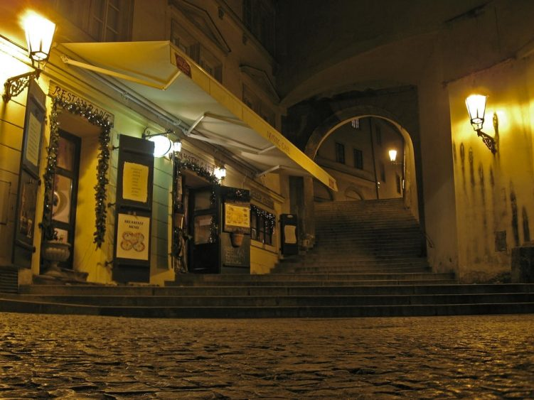 Restaurant on castle hill