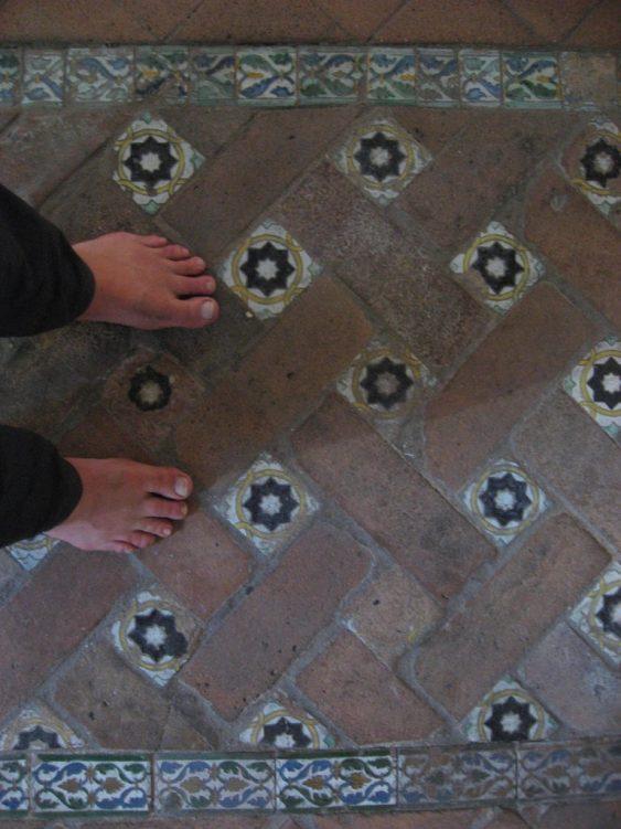 Mosaik-Fliesen der Synagoge