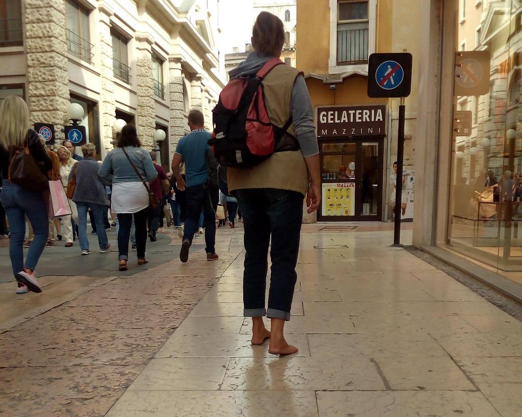 Barfuß in Verona