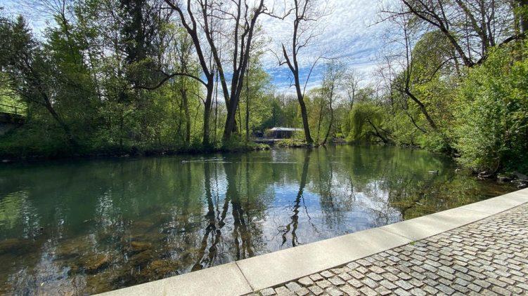 Teich im Stadtpark von Erding