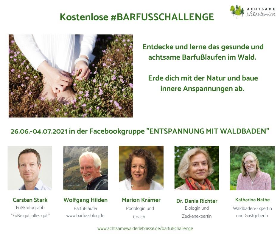 Einladung zur kostenlosen Barfuß-Challenge