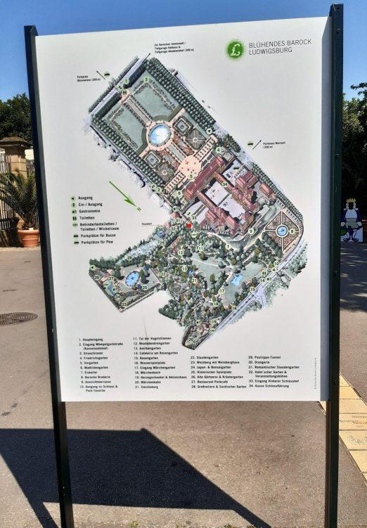 Lageplan Schlosspark Ludwigsburg
